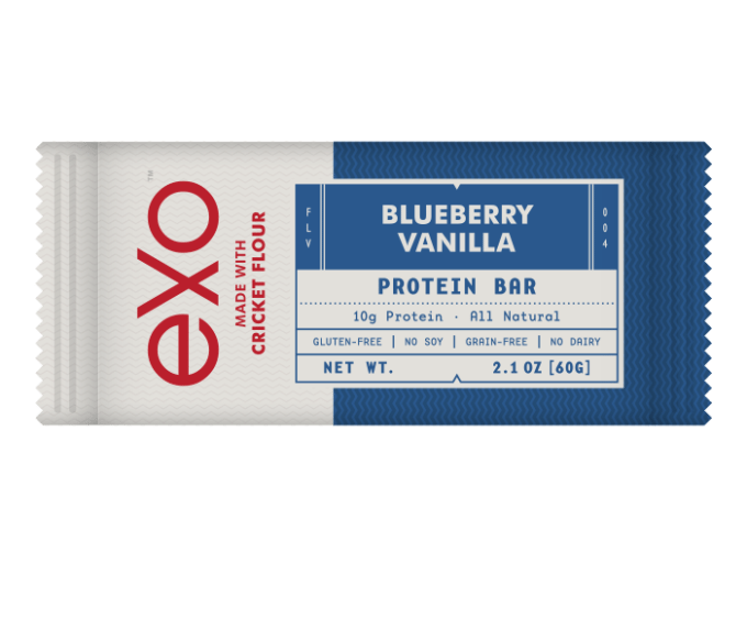 Exo Blueberry Vanilla Cricket Flour Protien Bar