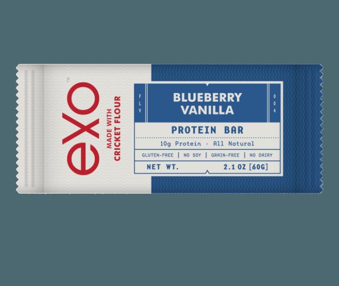 Exo Blueberry Vanilla Cricket Flour Protien Bar