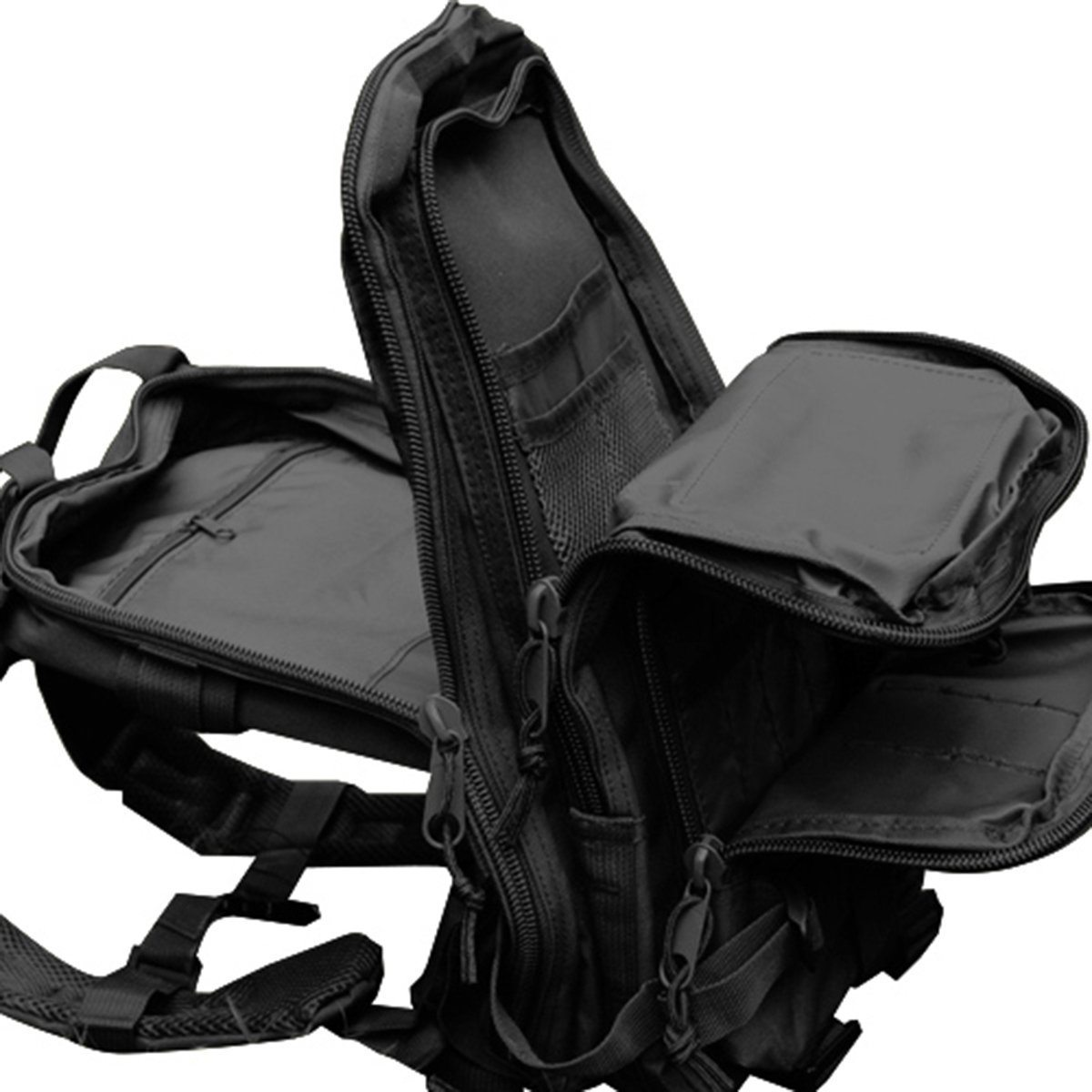 This 30L capacity tactical backpack has plenty of internal compartments for your bug-out gear