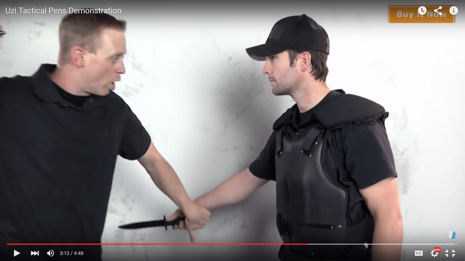 Blocking the knife-holding hand