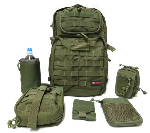 tactical pack with removable pouches