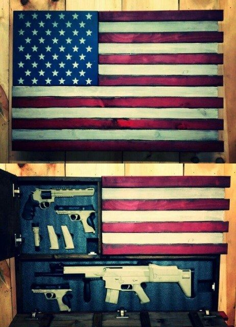 Flag Hidden Gun Case